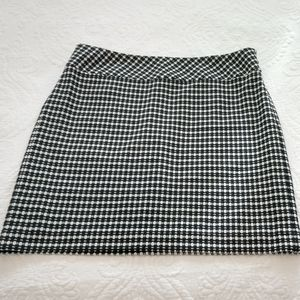 Anne Taylor Loft Black & White Polka Dot Skirt